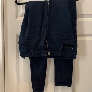 Dark wash high waisted skinny jeans